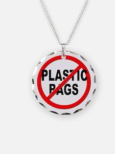 Anti / No Plastic Bags Necklace