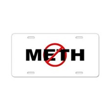 Anti / No Meth Aluminum License Plate