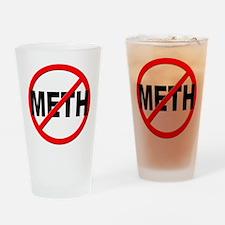 Anti / No Meth Drinking Glass