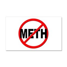 Anti / No Meth Car Magnet 20 x 12