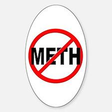 Anti / No Meth Sticker (Oval)