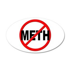 Anti / No Meth Wall Decal
