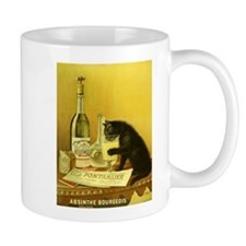 Absinthe Bourgeois Chat Noir Small Mug