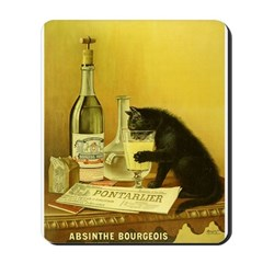 Absinthe Bourgeois Chat Noir Mousepad