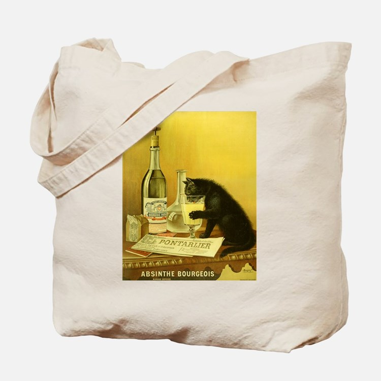Absinthe Bourgeois Chat Noir Tote Bag