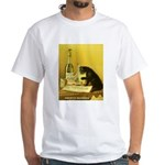 Absinthe Bourgeois Chat Noir White T-Shirt