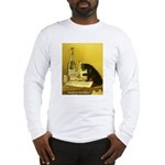 Absinthe Bourgeois Chat Noir Long Sleeve T-Shirt