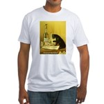 Absinthe Bourgeois Chat Noir Fitted T-Shirt