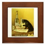 Absinthe Bourgeois Chat Noir Framed Tile