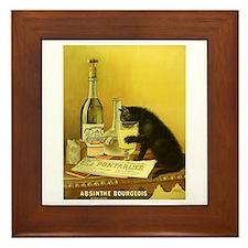 Absinthe Bourgeois Chat Noir Framed Tile