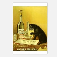 Absinthe Bourgeois Chat Noir Postcards (Package of