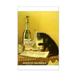Absinthe Bourgeois Chat Noir Mini Poster Print