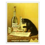 Absinthe Bourgeois Chat Noir Small Poster