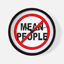 Anti / No Mean People Wall Clock