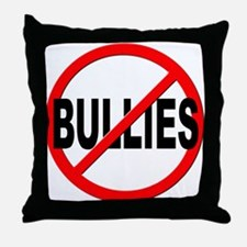 Anti / No Bullies Throw Pillow