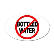 Anti / No Bottled Water Wall Decal