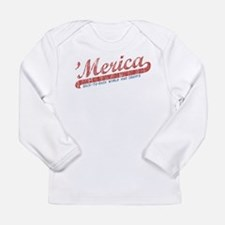 Vintage Team 'Merica 2 Long Sleeve Infant T-Shirt