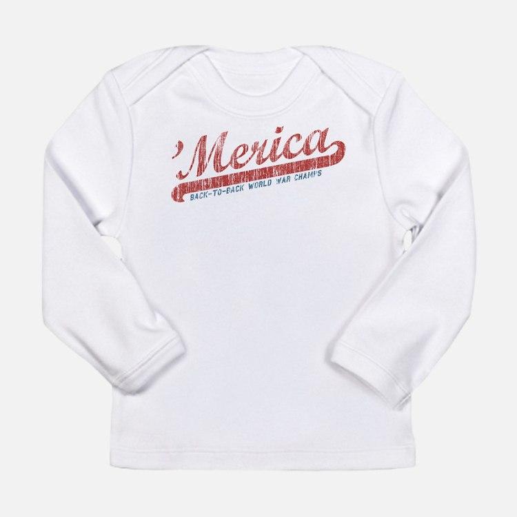 Vintage Team 'Merica 2 Long Sleeve Infant T-Shirt