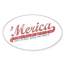 Vintage Team 'Merica 2 Decal