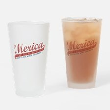Vintage Team 'Merica 2 Drinking Glass