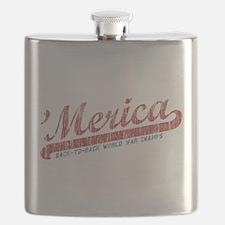 Vintage Team 'Merica 2 Flask