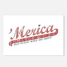 Vintage Team 'Merica 2 Postcards (Package of 8)