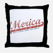 Vintage Team 'Merica 2 Throw Pillow