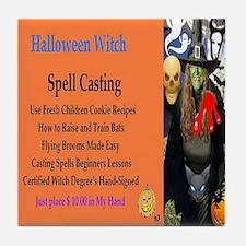 Halloween Witch Spells Tile Coaster