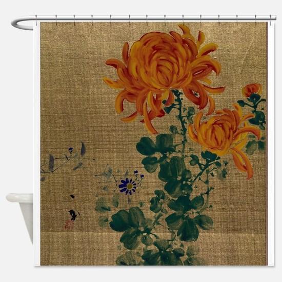 Chrysanthemum - Anon - 1890 Shower Curtain