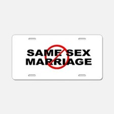 Anti / No Same Sex Marriage Aluminum License Plate
