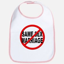 Anti / No Same Sex Marriage Bib