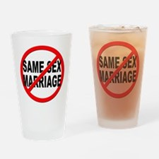 Anti / No Same Sex Marriage Drinking Glass