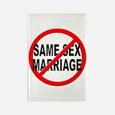 Anti / No Same Sex Marriage Rectangle Magnet