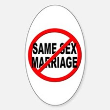 Anti / No Same Sex Marriage Decal