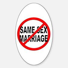 Anti / No Same Sex Marriage Sticker (Oval)