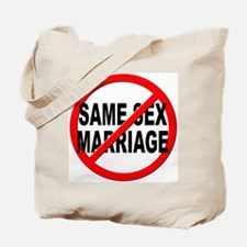 Anti / No Same Sex Marriage Tote Bag
