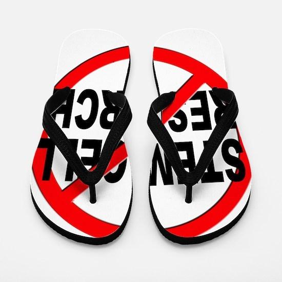 Anti / No Stem Cell Research Flip Flops
