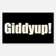 Giddyup Rectangle Decal
