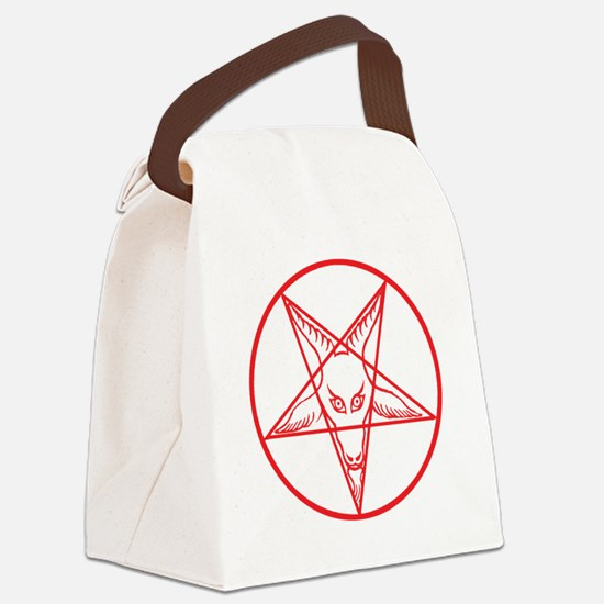 Baphomet Canvas Lunch Bag
