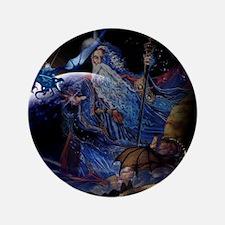 "Wizzard & Dragon 3.5"" Button"