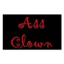 Ass Clown Rectangle Decal