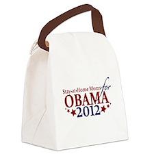 Moms for Obama 2012 Canvas Lunch Bag