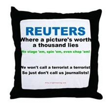 Anti- Reuters Throw Pillow