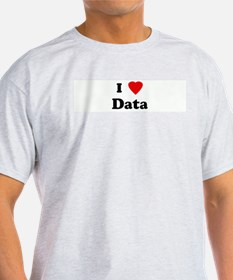 I Love Data Ash Grey T-Shirt