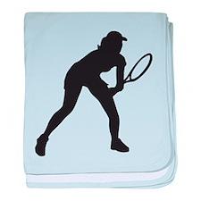 female tennis player baby blanket