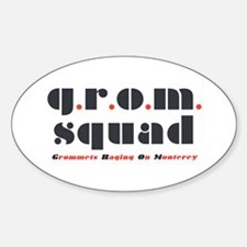 "Oval ""grom squad"" Decal"