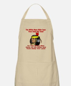 White Bible Say Not Steal Apron