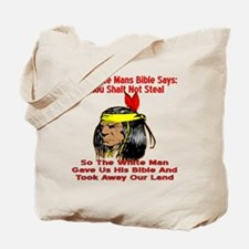 White Bible Say Not Steal Tote Bag