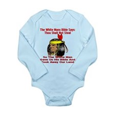 White Bible Say Not Steal Long Sleeve Infant Bodys