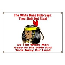 White Bible Say Not Steal Banner